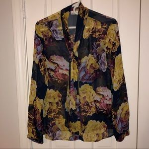 Beautiful tie neck Liz Claiborne blouse.